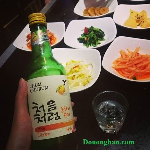 ruou soju chanh citron lotte